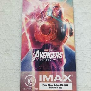 Other - Avengers Infinity War Collectible Ticket